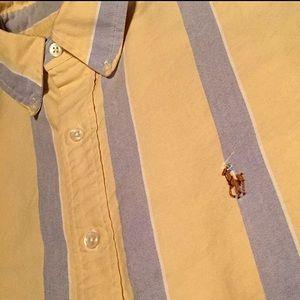 POLO Ralph Lauren Men 16.5 L-XL Yellow Dress Shirt